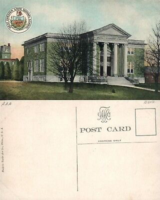 West Chester Pa Library State Normal School Antique Postcard