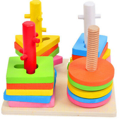 Kids Preschool Wooden Puzzle Jigsaw Early Learning Baby Educational Toys
