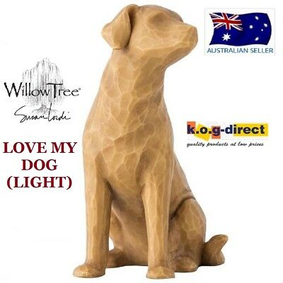 LOVE MY DOG (LIGHT) Willow Tree Demdaco Figurine By Susan Lordi Brand New In Box