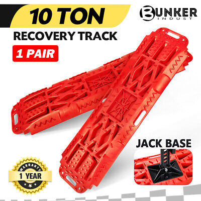 【20%OFF】Pair Recovery Tracks Sand Track Red 10T 4WD Car Accessories 4x4