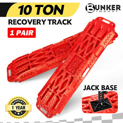 Pair Recovery Tracks Sand Track Red 10T 4WD Car Accessories 4x4
