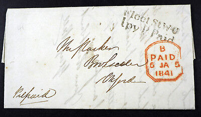 """1841, fine cover, full content, """"Fleet St WO lpy P.Paid"""""""