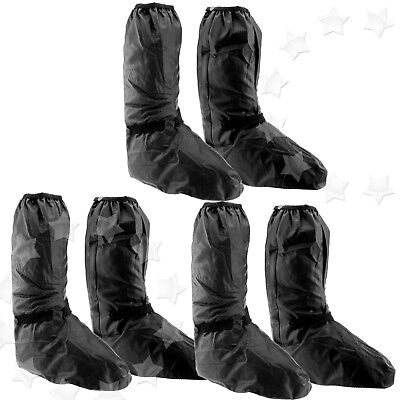 Motorbike Shoe Boot Cover Waterproof Bike Shoe Rain Protect Black 42-50