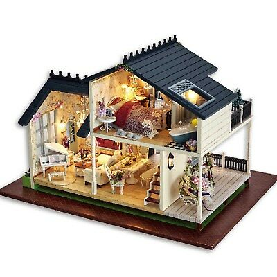 Handcraft Miniature Project Wooden Dolls House My Provence Lavender Villa Gifts