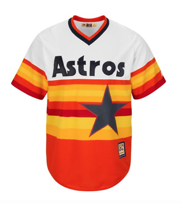 Majestic Men's MLB Houston Astros Cooperstown Cool Base Replica Baseball Jersey