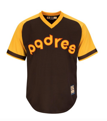 Majestic Mens MLB San Diego Padres Cooperstown Cool Base Replica Baseball Jersey