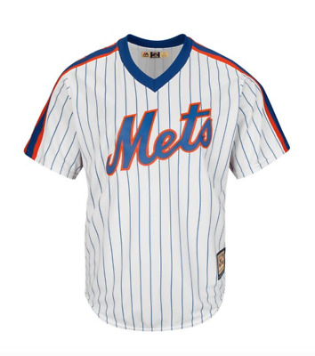 Majestic Mens MLB New York Mets Cooperstown Cool Base Replica Baseball Jersey
