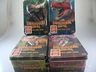 Dinosaur King Tin-Sammel-Dosen-Set Deutsch alle 4 Dosen original