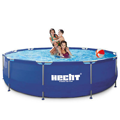 Hecht 3476 BLUESEA Swimmingpool Frame Pool Schwimmbecken Stahlrohr Schwimmbad