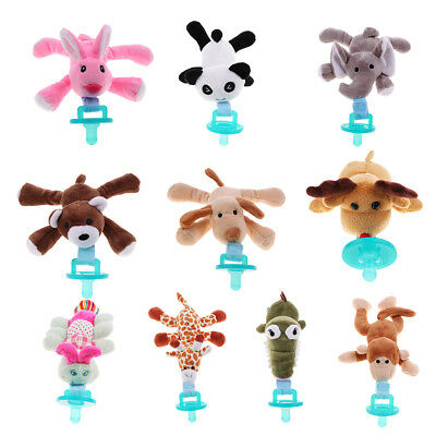 Feeding Nipples Holder Baby Pacifier Clip Plush Toys Infant Child Soother