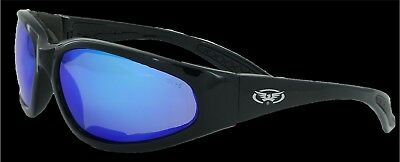 Global Vision Glasses Hercules Plus GT Motorcycle Glasses Blue Mirror