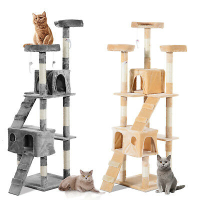 Multi-Level Cat Tree Scratcher Activity Center Climbing Tree Condo Furniture w/