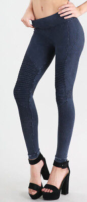 85005c6b2f7e43 Nikibiki Womens Leggings Vintage Moto Soft Jeggings One Size Juniors Many  Colors