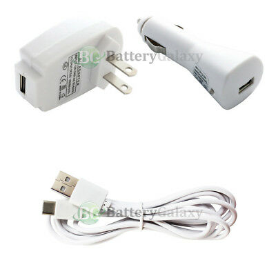 6FT Type C USB Cable+Wall+Car Charger Plug for Samsung Galaxy S8 / S8+ / S8 Plus