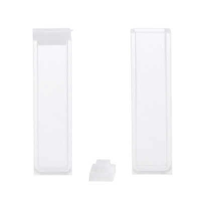 2Pcs 5mm Fluorescence Quartz Cuvette Cell Cuvette