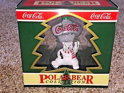1995 Coca-Cola Polar Bear Collection Christmas Ornament On a Bottle Opener NEW