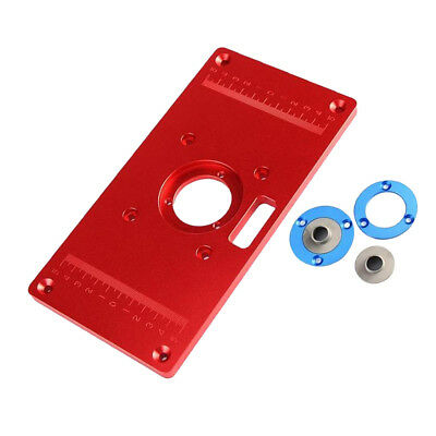 New router table insert plate 200x300x10mm with rings for aluminum alloy router table insert plate with 2 router insert rings tools 2 keyboard keysfo Gallery