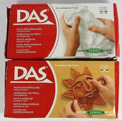 Das Air Drying Modelling Craft Clay - White Or Terracotta - Carver Tools
