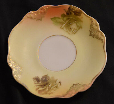 Old Ivory XXXIII Silesia Herman Ohme Saucer Antique Porcelain Germany