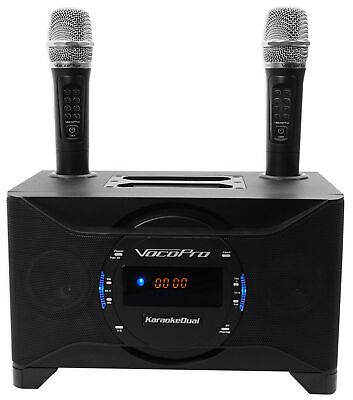 Vocopro KaraokeDual Tablet/Smart TV Karaoke Machine System w/ Dual Wireless Mics
