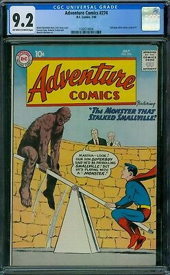 Adventure Comics 274 CGC 9.2 - OW/W Pages