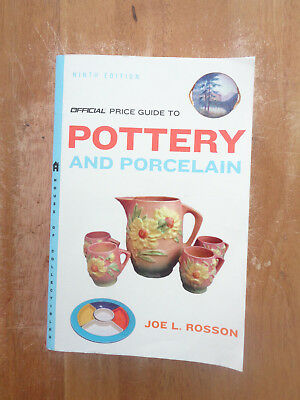 Official Price Guide to Pottery&Porcelain: Pottery&Porcelain by Joe L. Rosson SC
