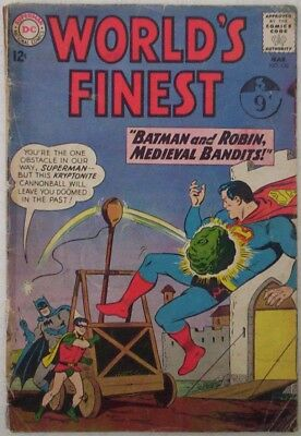 1963. WORLD's FINEST. DC Comic #132. BATMAN & ROBIN, SUPERMAN, GREEN ARROW