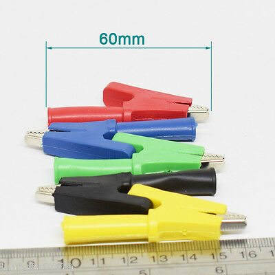 Insulate Alligator Clip to 4mm Banana Female Test Clamp 10mm //5mm Opening