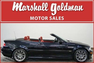 2002 BMW M3  2002 BMW M3 convertible  Carbon Black Imola Red Leather SMG 21,185 miles