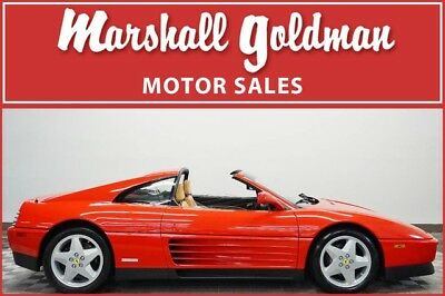 1991 Ferrari 348  1991 Ferrari 348TS Rosso Corsa Red with Beige collector car only 627 miles