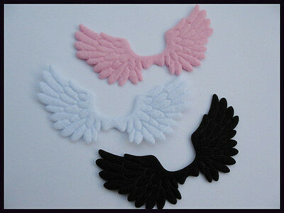 60 Big Felt Angel Wing Applique/trim/bow-3 Colors