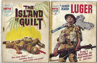 """Dated 1961. TWO x Vintage """"BATTLE"""" Picture Library Comics #'s 4 and 6."""