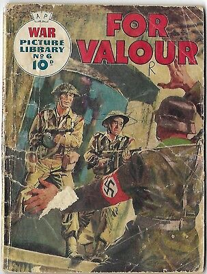 """Dated 1958. Vintage WAR PICTURE LIBRARY Comic #6. """"For Valour"""""""