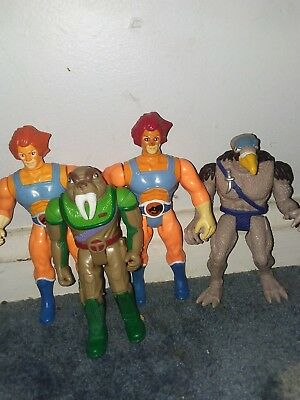 VINTAGE LOT (4) 1985 THUNDERCATS ACTION FIGURES lion-o