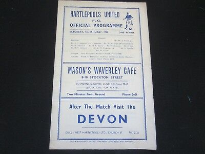 1955-56 FA CUP 3RD ROUND HARTLEPOOLS UNITED v CHELSEA