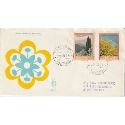1968 Fdc Venetia N. 282/It Italia Flora 3 Emiss. Mf80762