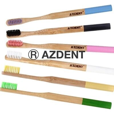 Azdent 100% Natural Bamboo Toothbrush Vegan/eco Friendly Bpa Free Biodegradable