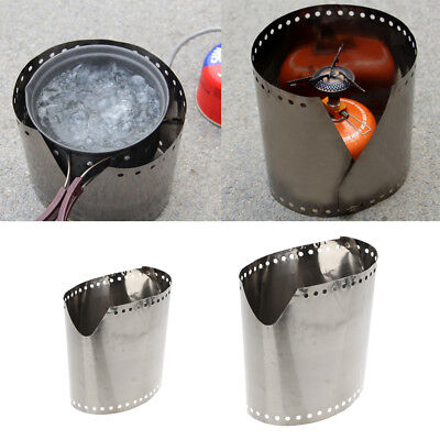 Camping Sturdy Ultra-thin Outdoor Cooking Stove Screen Roll Up Windshield