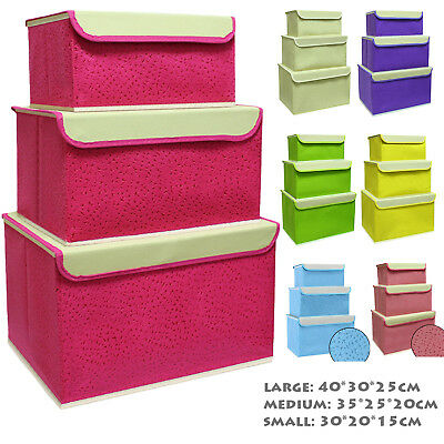 Storage box Cloth Cube Tidy Folding containers modern home decor Boxes with lid