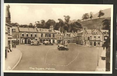 JWE Early Tuck Postcard, The Square, Melrose, Roxburghshire