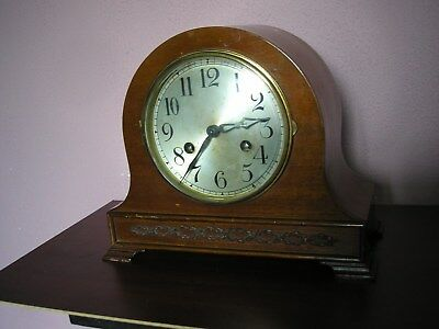 Antique August Schatz Striking Mantle Clock Repair Or Spares
