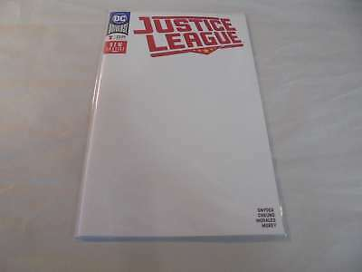 Justice League #1 Blank Variant (2018) DC NM Comics Book