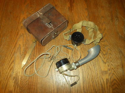 WW2 Imperial Japanese Army Field / Trench Phone & Case- VERY RARE!