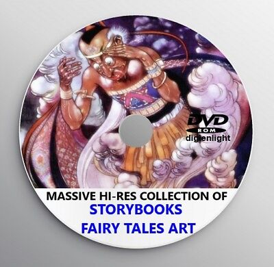 FAIRY TALE ART COLLECTION Vintage 1900s Book Illustration Paintings Art Deco DVD