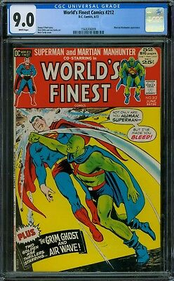 World's Finest Comics 212 CGC 9.0 - White Pages