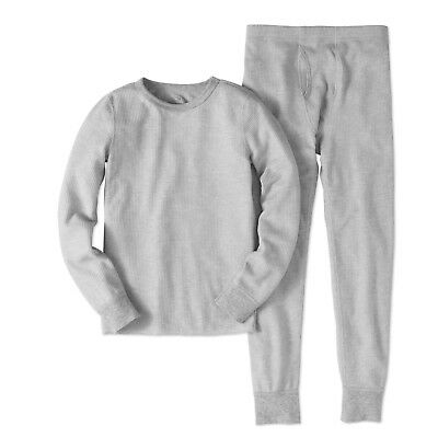 NEW Boys Fruit of the Loom Beyond Soft Gray Thermal Underwear Set Medium 8