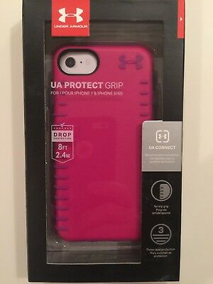 Under Armour Grip Series Hybrid Case Cover for iPhone 8/7/6s - Pink/Purple NEW