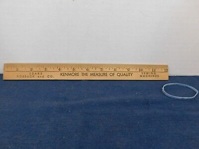 "Vintage Wood Ruler Sears Roebuck Co Kenmore the Measure of Quality 12"" a"