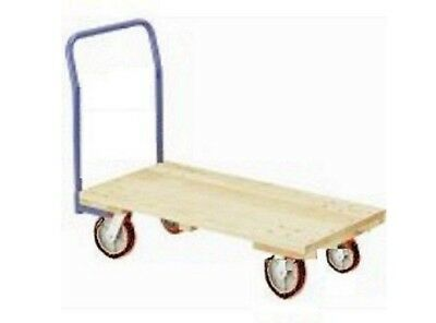 """Warehouse Style Wooden Platform Dolly 24"""" x 48"""" Long with Non-Marking Wheels"""