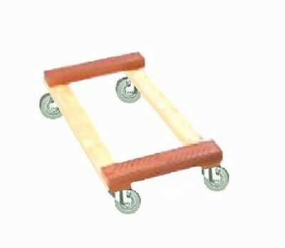 """Heavy Duty Movers Dolly 18"""" x 30"""" Soft Rubber Wheels & Rubber End s 800#"""
